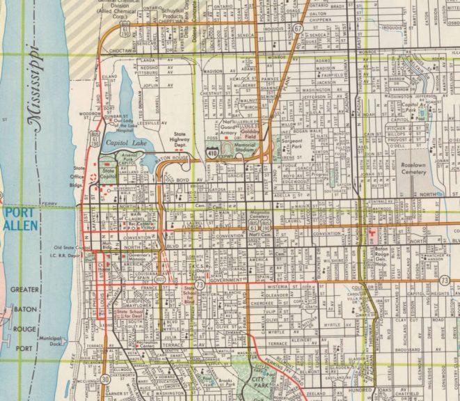 Baton Rouge Expressway (I-410) - 1961