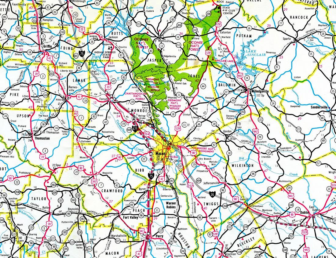 Map Of Georgia Hwy 75.Interstate 475 Aaroads Georgia