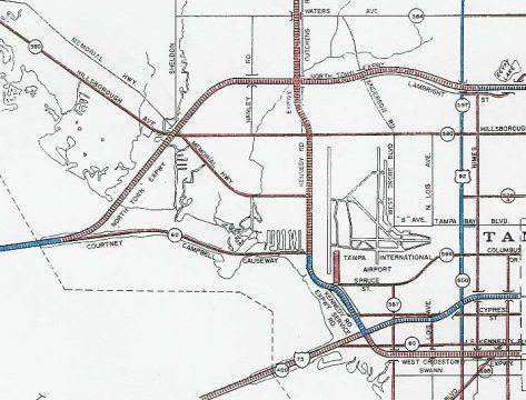 1962 Crosstown Expressway Map