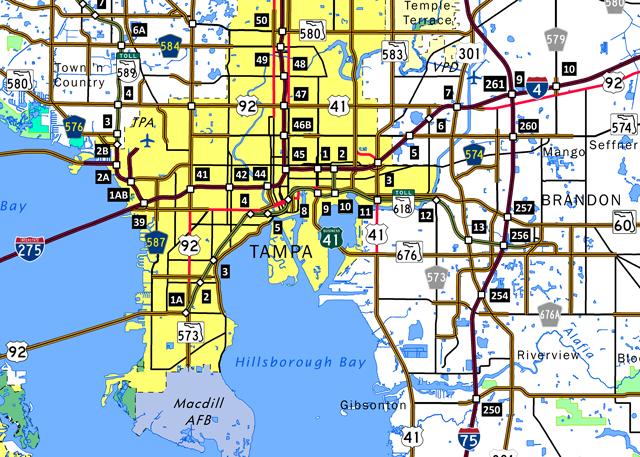 Selmon Expressway Map