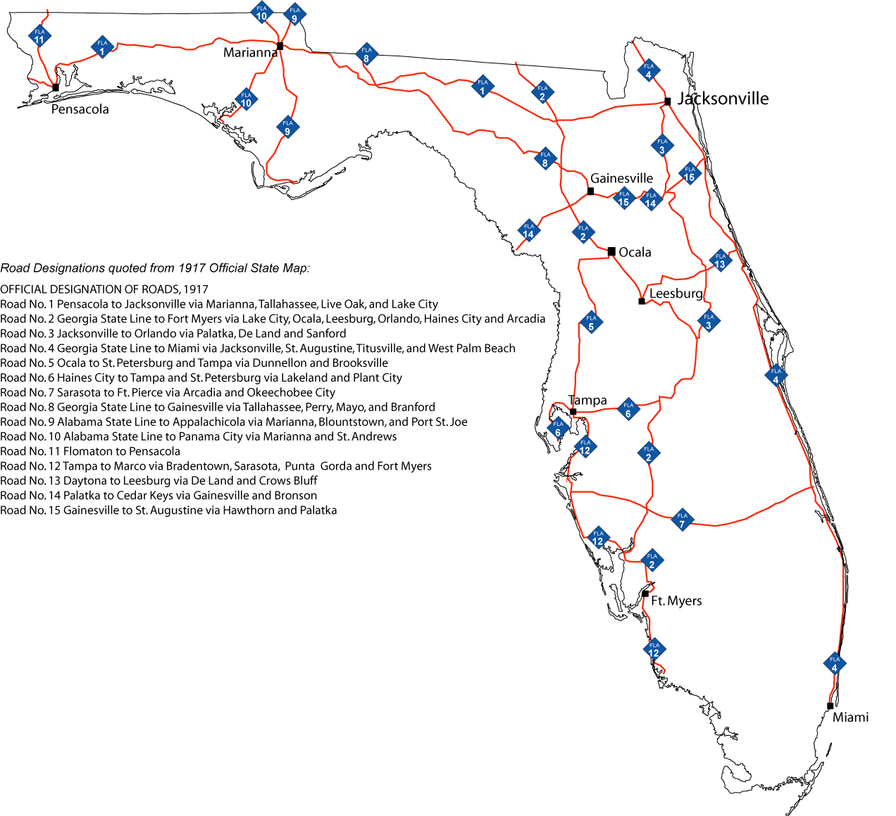 Map Of Florida Roads.Florida Primary State Road System Aaroads