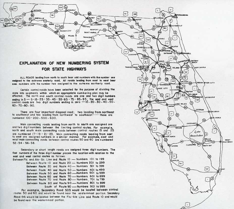 florida map with highway system