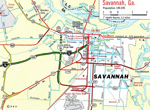 Savannah in 1969