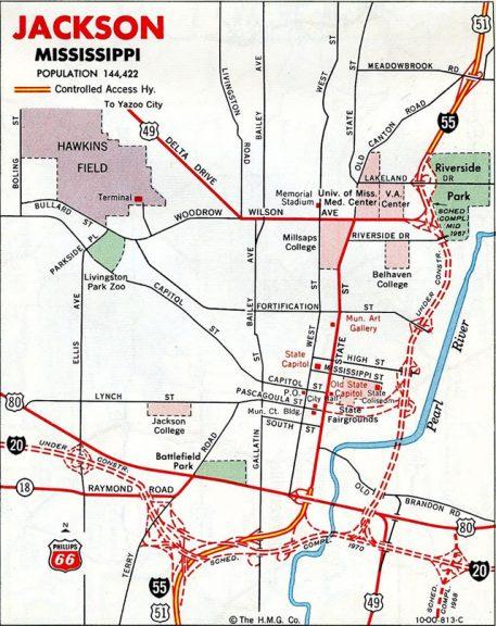 1967 Jackson Map