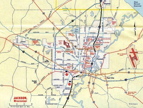 1969 Jackson Map