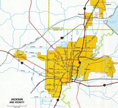1970 Jackson Map