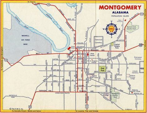Montgomery, AL - 1961 Map