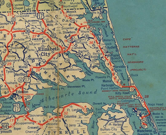 1940 map of N.C. 34