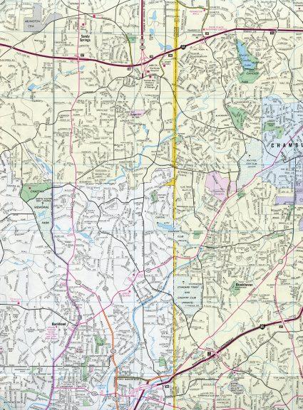 Atlanta, GA - 1987 Map
