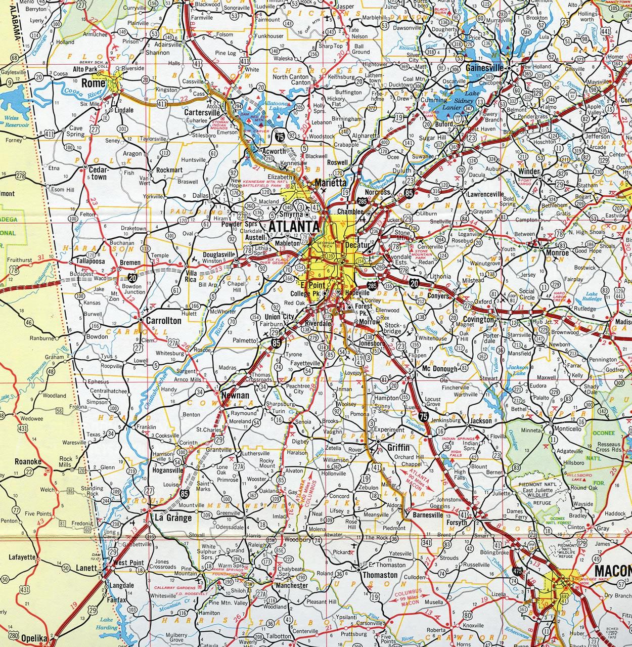 I 85 Collapse Atlanta Map.Interstate 85 Aaroads Georgia