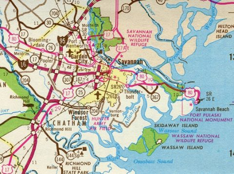 Toll U.S. 80 - 1976 Georgia Official Highway Map