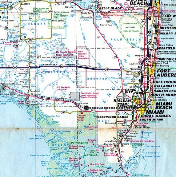 South Florida - 1970 Map