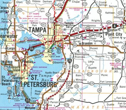 1981 Map of Tampa Bay, FL