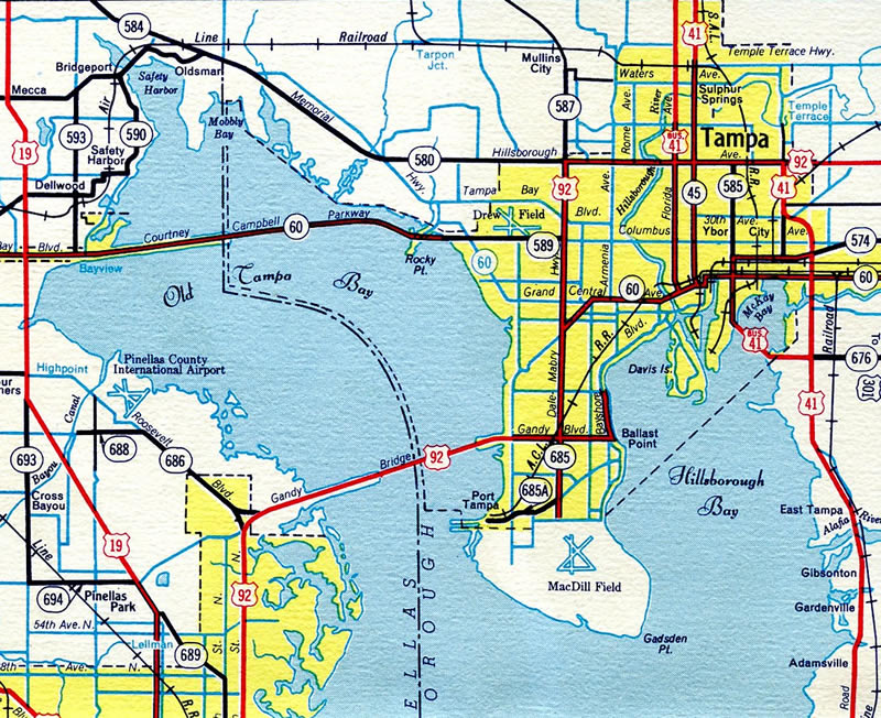 Map Of Southeast Florida.Florida 597 Dale Mabry Highway Aaroads Florida