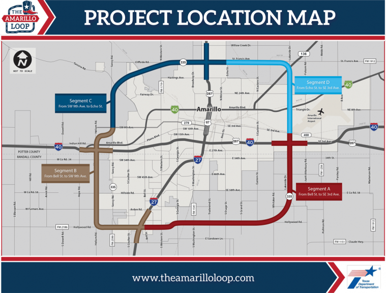 Amarillo Loop Project map
