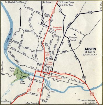 Austin, TX - 1950 Map
