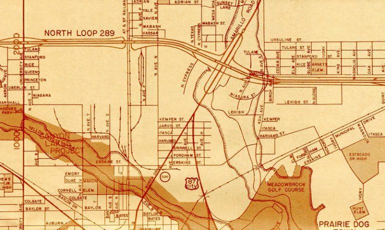 North Lubbock 1976 Map