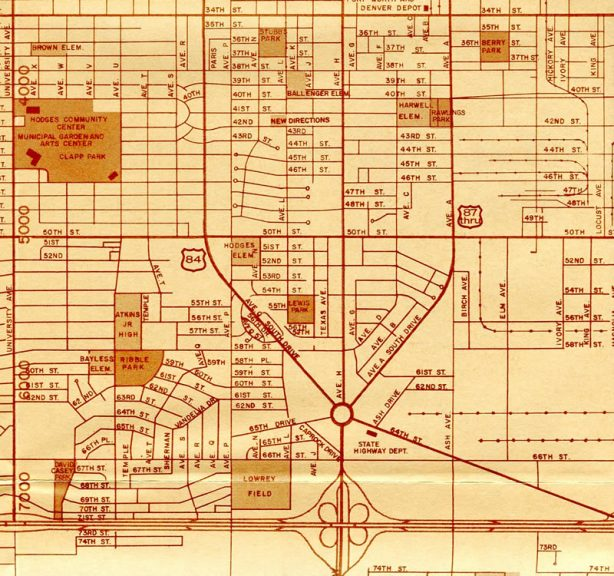 South Lubbock 1976 Map