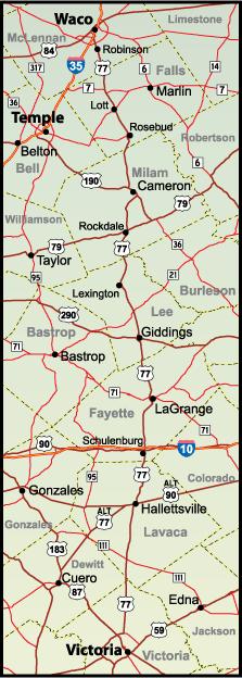 U.S. 77 Corridor Map