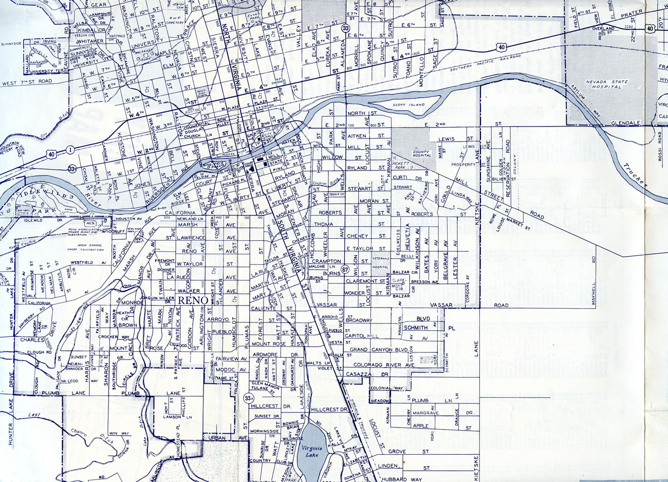 reno nevada street map Reno Sparks Aaroads reno nevada street map