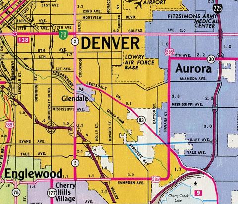 Hwy 285 Colorado Map.U S 285 Aaroads Colorado