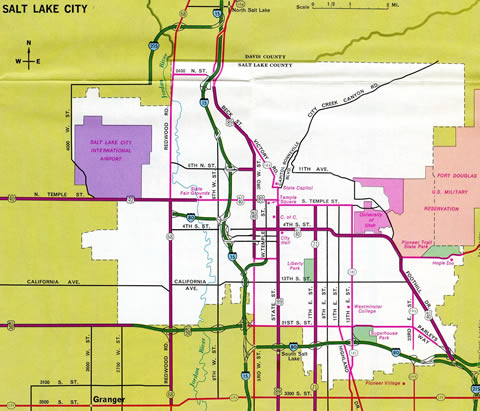Salt Lake City – 1974 Utah Official Highway Map
