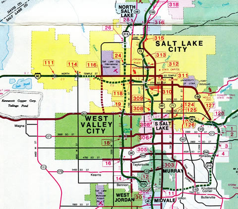 Salt Lake City – 1983 Utah Official Highway Map