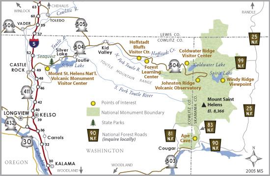 Washington State Route 504 Map